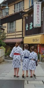 Our children exploring the onsen baths in Shibu Onsen, Japan