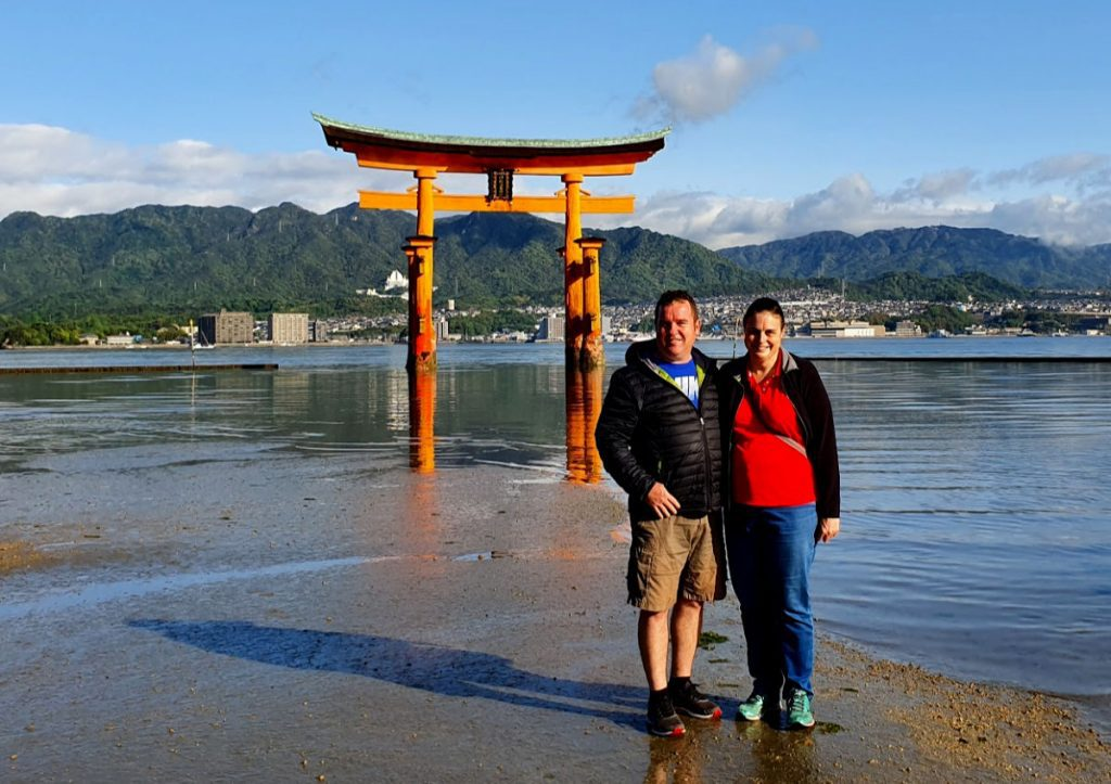 Anne & Tony visiting Miyajima Island in Japan
