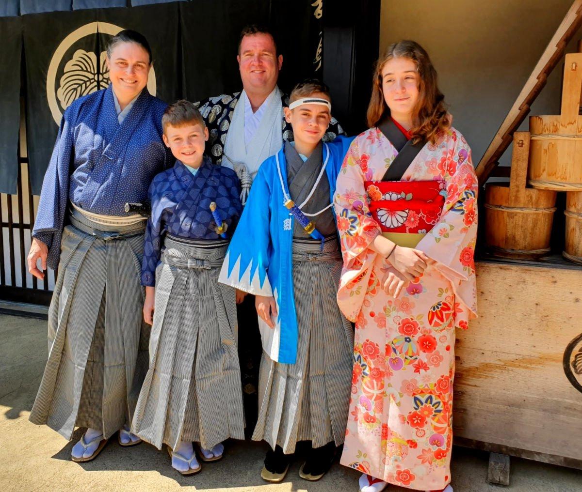 Our Family visiting Edo Wonderland in Nikko